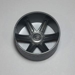 Large Silver Double Wide Racing Wheel/Hub – 50mm