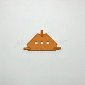 Small – Orange Tri Panel