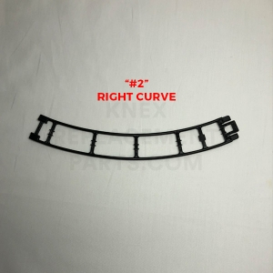 Black Curved Track – Right (#2)