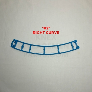 Blue Curved Track – Right (#2)