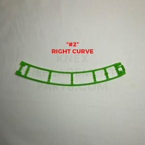 Green Curved Track – Right (#2)