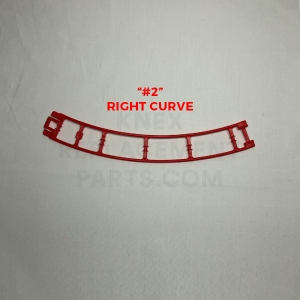 Red Curved Track – Right (#2)
