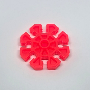 Transparent Red 8-way Connector