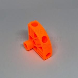 Orange 3-way 3D Pivot Fitting