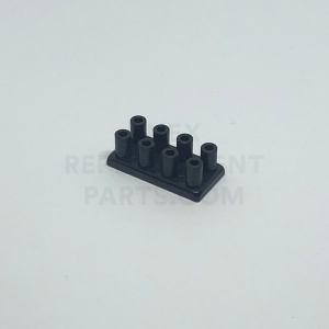 2 x 4 – Black Brick w/ Long Studs
