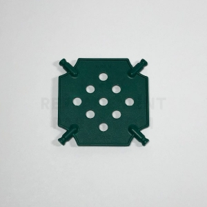 Small – Green Square Panel