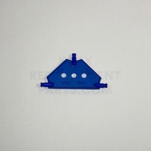 Small – Transparent Blue Tri Panel