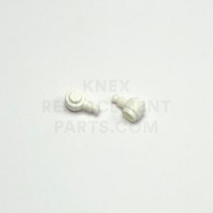 1 x 1 – Circular Brick To Rod Adaptor – White