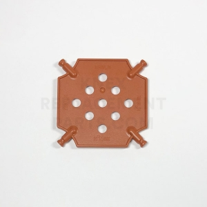 Small – Reddish Brown Square Panel